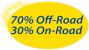 70% Off-Road, 30% On-Road