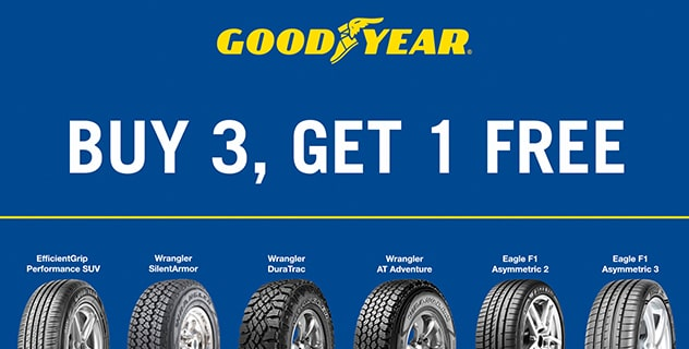 Buy 3 Get 1 Free Tires >> Tire Sale Get Discounts On Selected Tires Goodyear